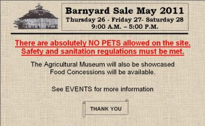 2011-04-07 Barnyard Sale Photo Gallery4462